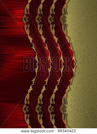 Abstract Red Background With Red Stripes. Design Template