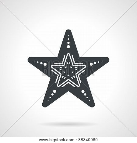 Black vector icon for starfish