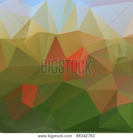 Triangle Background, Mountains, Vector Polygon Art, Soft Colored Abstract Illustration. Web Mobile I