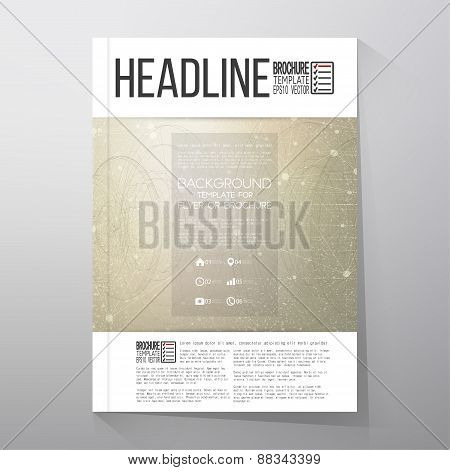 Technical retro background. Brochure, flyer or report for business, template vector