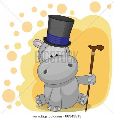 Hippo In Hat