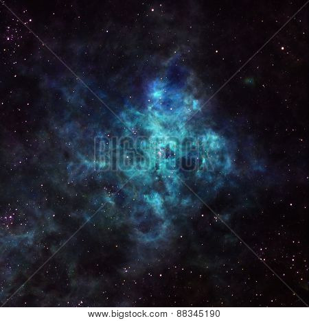 Nebula In Outer Space