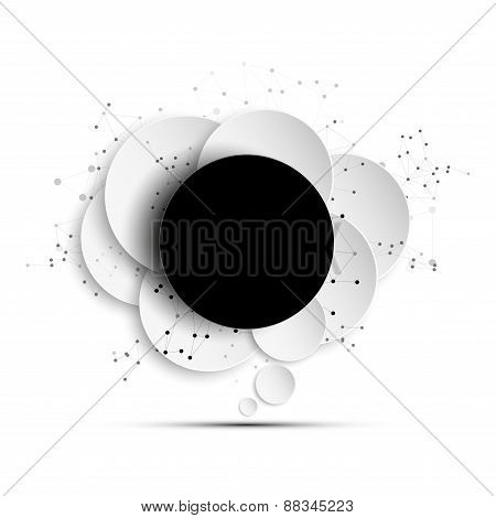 Abstract background of paper speech bubble with the social network. Business template vector