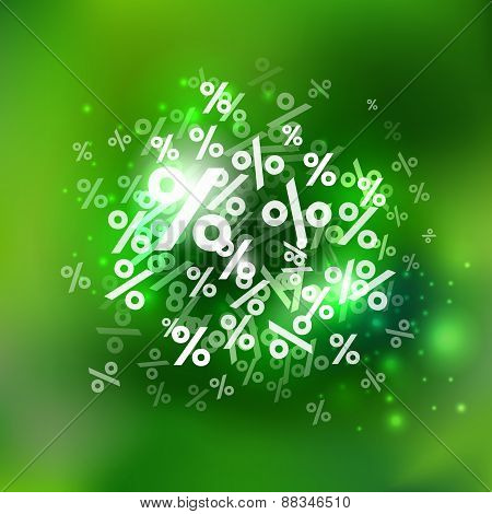Summer Green Background With Percents