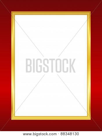 Gold And Red Invitation Background