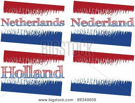 abstract flag of Netherlands