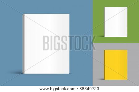 Different blank book covers template. Vector illustration