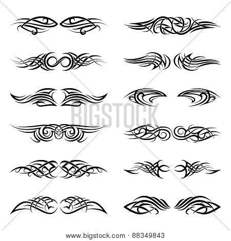 Vector tribal tattoos
