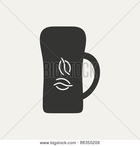 Flat in black and white mobile application cofee