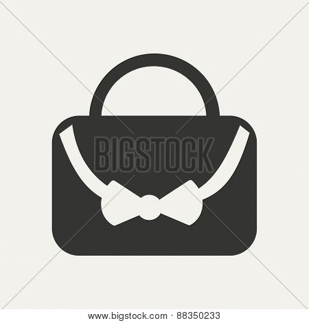 Flat in black and white mobile application bag