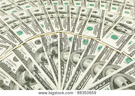 Paper Money Dolar. Background Of Banknotes