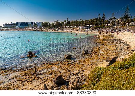 Nissi Beach In Aiya Napa, Cyprus