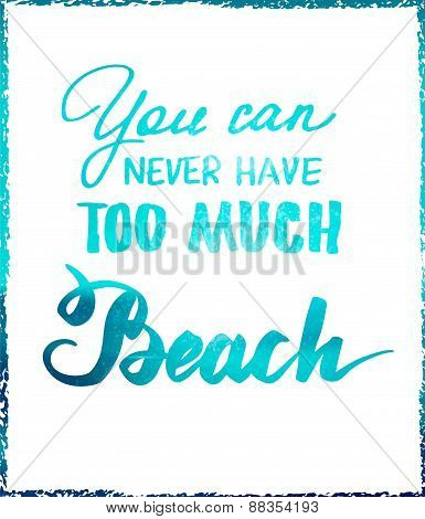 Bright summer motivational poster about beach vacation and relaxation