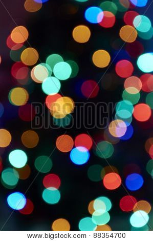Background Of Colored Lights