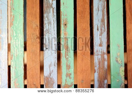 Colorfull Wood Table