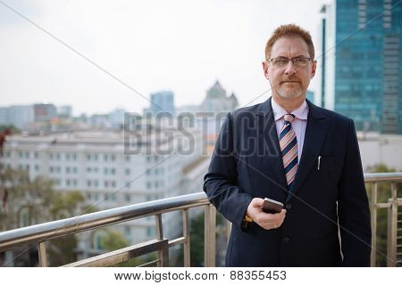 Mature successful businessman