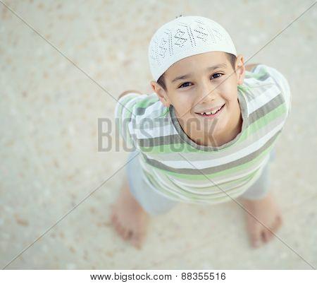 Happy Muslim boy