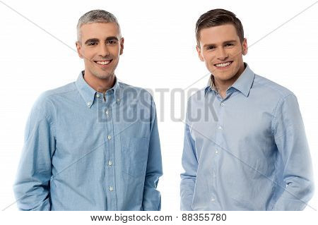 Happy Casual Men Posing