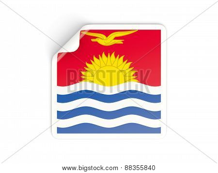 Square Sticker With Flag Of Kiribati