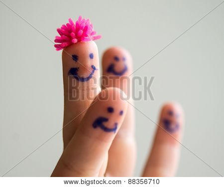 Happy finger smileys