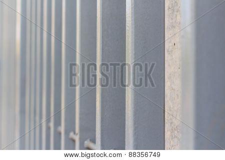 Close Up Metal Palisade Pattern