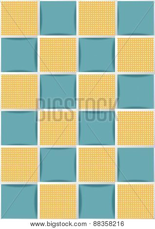 Tiles Yellow and Blue. Seamless background