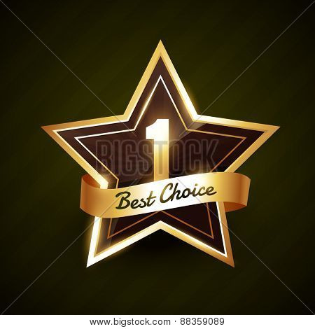 number one best choice golden label vector design illustration