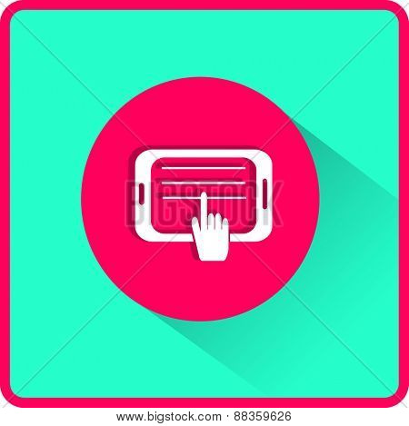 Tablet Illustration. Flat Vector Icon