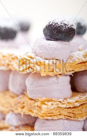 Napoleon Blueberry Cake Dessert