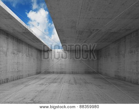 Abstract Architecture, Empty Concrete Room Interior