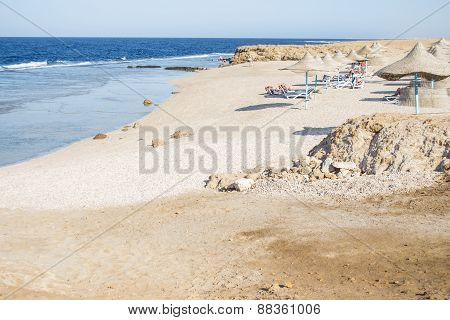 Sand Beach  In Marsa Alam, Egypt