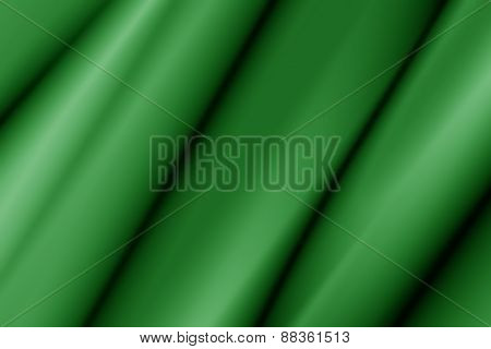 Illustration Of A Silky Green Wavy Piece Of Material
