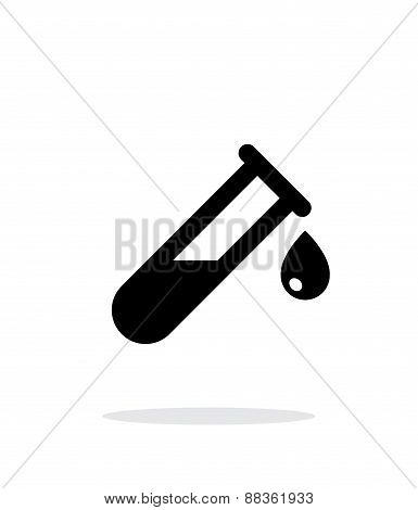 Drop from test tube simple icon on white background.