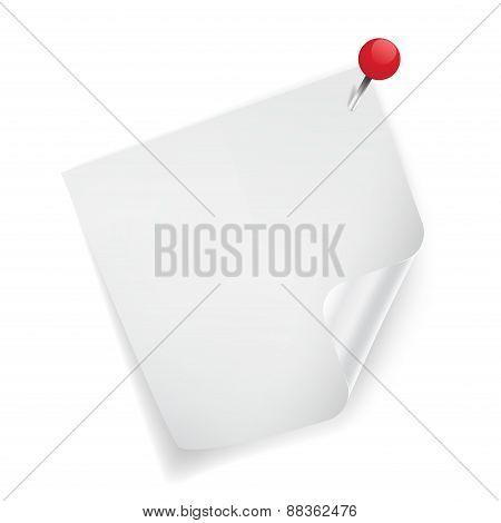White sticker paper note.