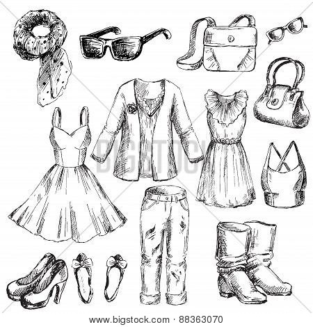 Set of clothes for women.