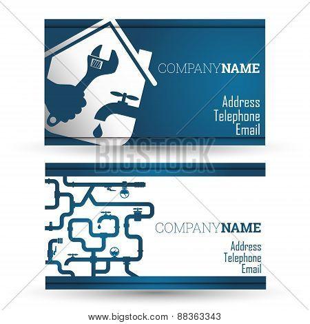 Business card repair waterpipe