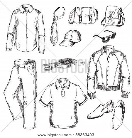 Set of clothes for men.