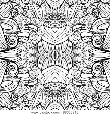Seamless Abstract Tribal Pattern (vector)