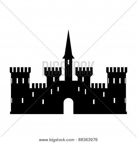 Abstract castle vector logo template