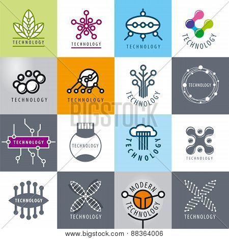 Big Set Of Vector Logos Technology
