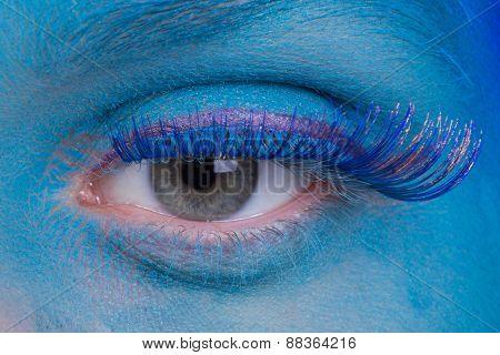 Creative makeup near the eye, airbrush.