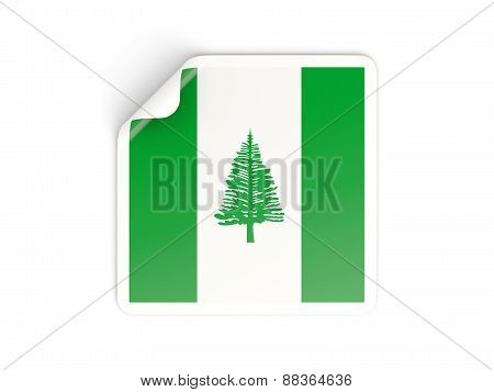 Square Sticker With Flag Of Norfolk Island