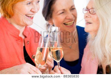 Happy Moms Celebrating Something With Wine