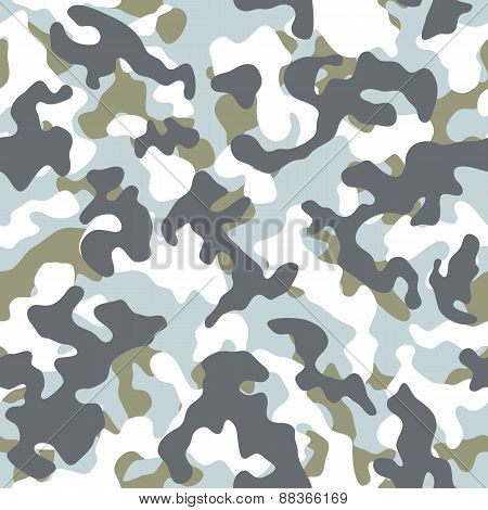 Winter Camouflage Seamless Pattern