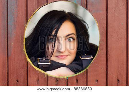 Pretty Fashion Model With Black Hair