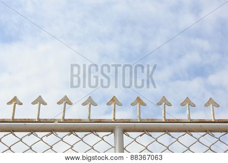 Fence With Blue Sky