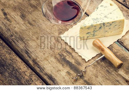 Blue Cheese Vintage Background