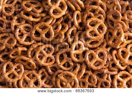 Background Texture Of Mini Pretzels
