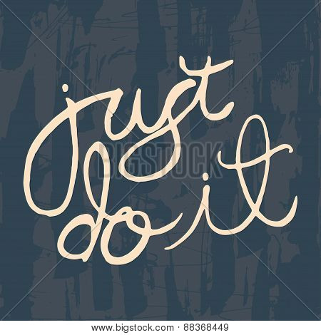 Just do it motivating poster