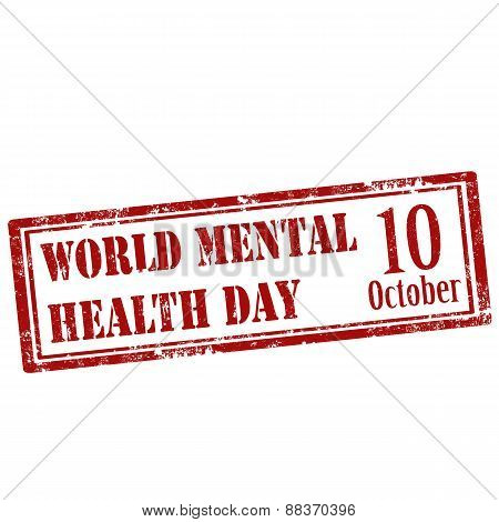 World Mental Health Day-stamp
